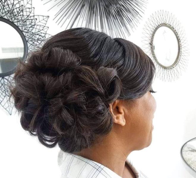 Hairstyle by Santorini Hairdresser Sofie's Choice