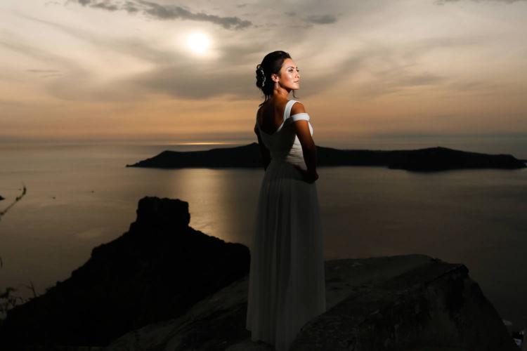 Santorini Bridal Hairstyles & Bridal Makeup (5)