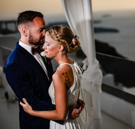 Santorini Bridal Hairstyles & Bridal Makeup (8)